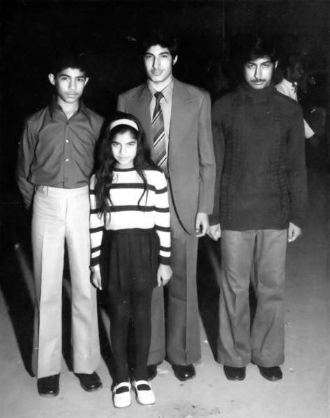 Ahsan Iqbal, Saadia Iqbal, Amer Iqbal and Asjad Iqbal on Amer's departure to Ankara.