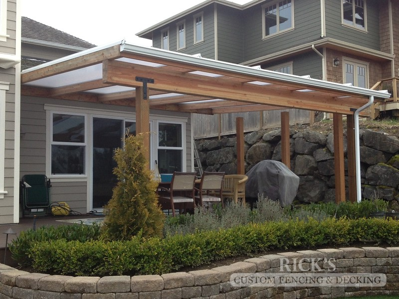 5054 - Wood-Framed Patio Cover with Acrylite Paneling