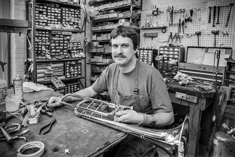 Master repairman, Gary Dafler, Dayton OH.