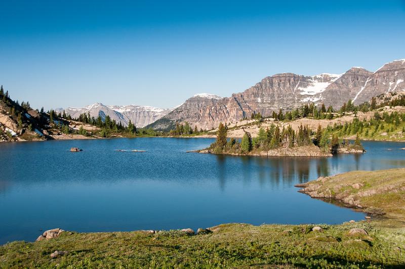 Rock Isle Lake in Banff National Park, Alberta, Canada
