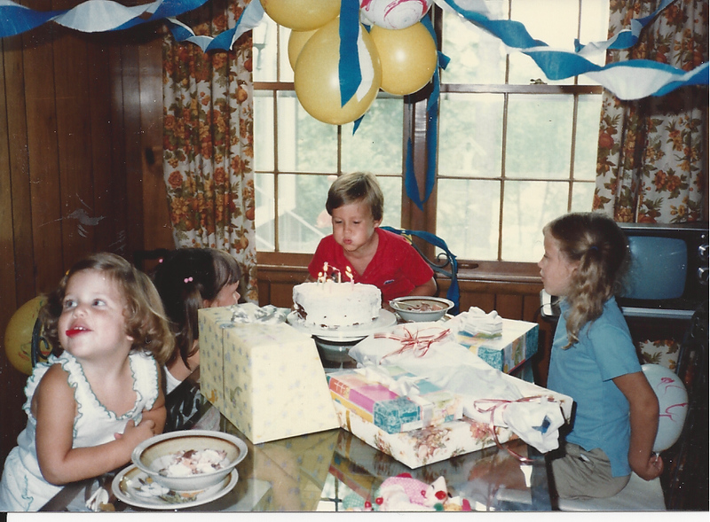 Edward III's 6th Birthday at his Grandparents Harris house  8/1983