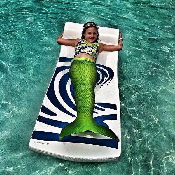Little known fact: most mermaids prefer quiet, salt-free backyard pools to the salty ocean.