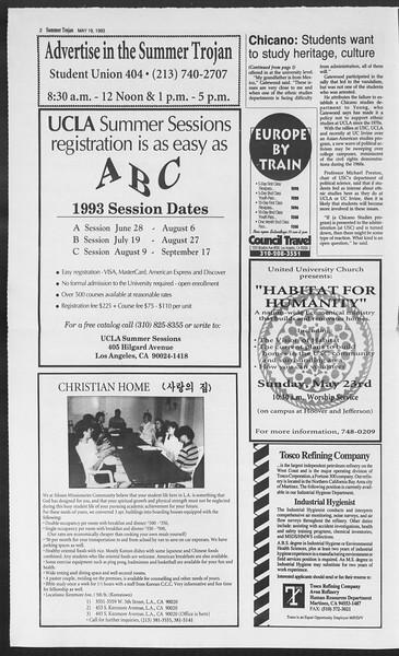 Summer Trojan, Vol. 120, No. 2, May 19, 1993