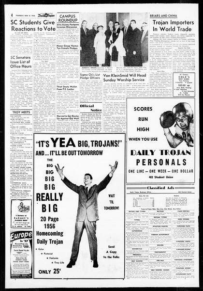 Daily Trojan, Vol. 48, No. 35, November 08, 1956
