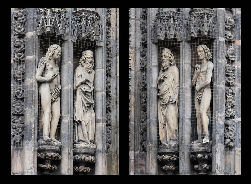 Nürnberg. St. Lorenz: Eva, Adam u. Propheten an Westportal