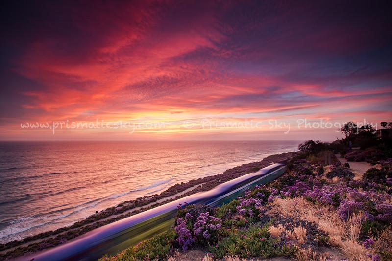 Coaster sunset