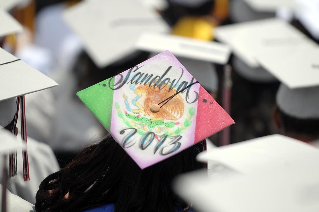. Graduation ceremony is held at Westchester High School Saturday afternoon.