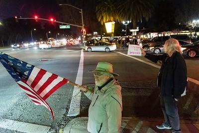 Feb 05 Rally against Trump's Acquittal:  Palo Alto ECR & Embarcadero