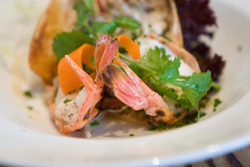 Closeup of the shrimp.
