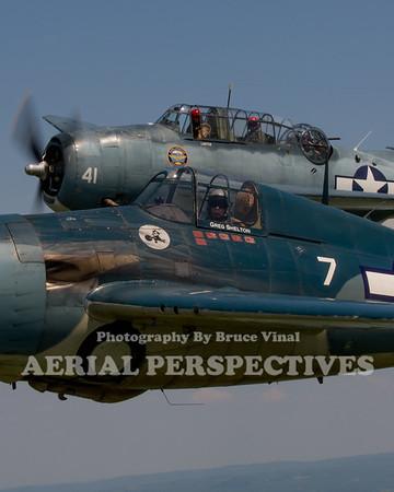 Geneseo Formation Flight 7/11/15 N56867 N3967A N551TC