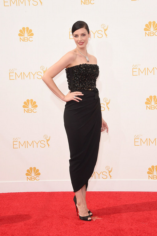 . Actress Jessica Pare attends the 66th Annual Primetime Emmy Awards held at Nokia Theatre L.A. Live on August 25, 2014 in Los Angeles, California.  (Photo by Jason Merritt/Getty Images)