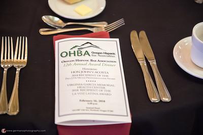 2018 OHBA Annual Award Dinner