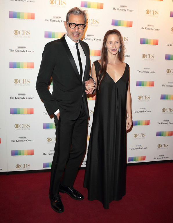 . Jeff Goldblum, left, with his wife Emilie Livingston attend the 39th Annual Kennedy Center Honors at The John F. Kennedy Center for the Performing Arts on Sunday, Dec. 4, 2016, in Washington, D.C. (Photo by Owen Sweeney/Invision/AP)