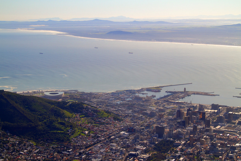 Cape Town from top of Table Mountain