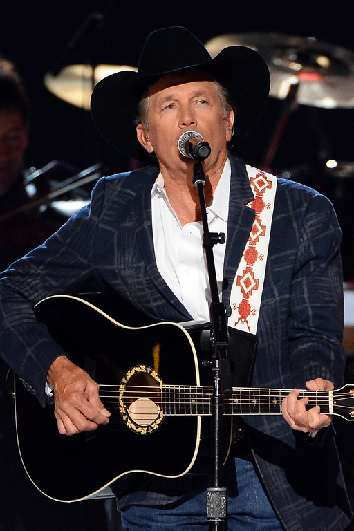 . Singer/songwriter George Strait performs onstage during the 49th Annual Academy Of Country Music Awards at the MGM Grand Garden Arena on April 6, 2014 in Las Vegas, Nevada.  (Photo by Ethan Miller/Getty Images)