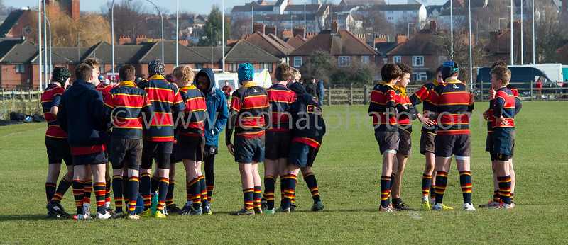 Under 14's, Franklin's Gardens, 24 January 2015