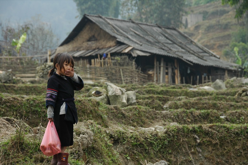 Little Girl in the Valley - Sapa, Vietnam