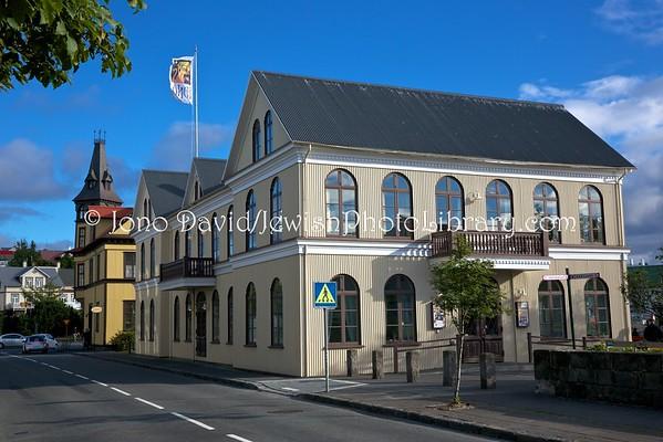 ICELAND, Reykjavik. Iðnó Building, formerly used for Jewish prayer during WW2 (9.2016)