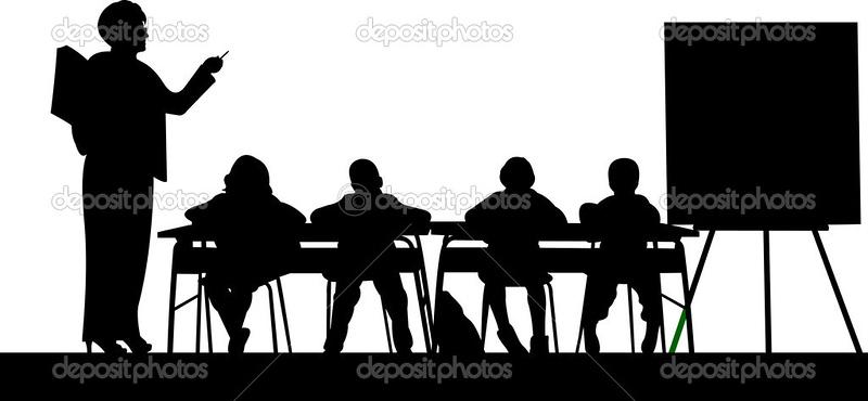 (G45) Kids at Desks