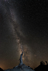 The Milky Way over Crater Lake