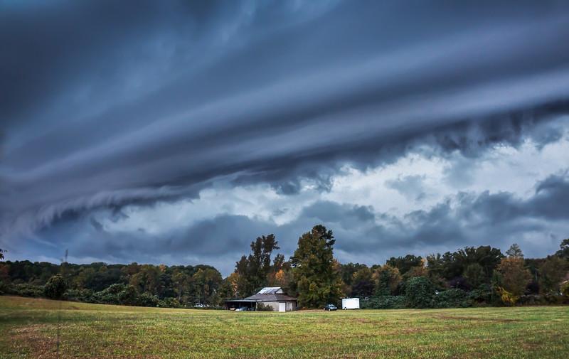 Greensboro Shelf Cloud