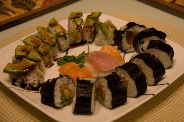 October 17 - Sushi dinner