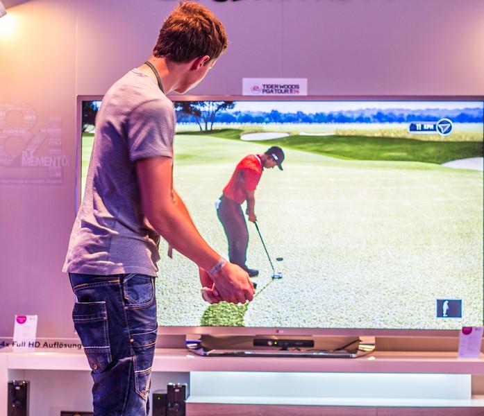 Kinect golf at Gamescom 2013
