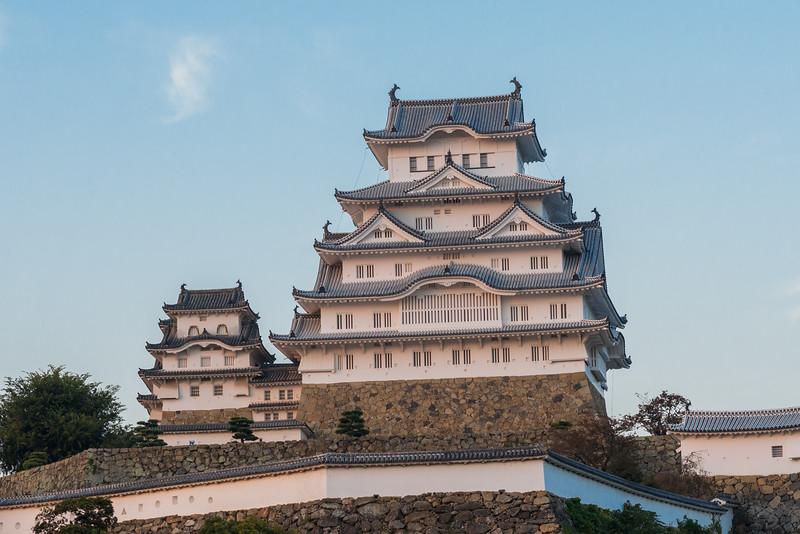 Himeji Castle Sunset Glow