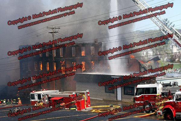 Johnstown Mill fire, 4-24-08