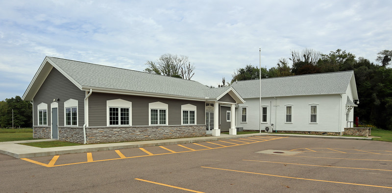 Arlington Township Hall - both buildings, old and new