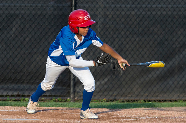 08/26/19 Wesley Bunnell | Staff The McCabe-Waters Astros defeated the Forrestville Dodgers 3-0 at Breen Field on Monday night in the city series to force a winner takes all on Wednesday. Donnie Rodriguez (42).
