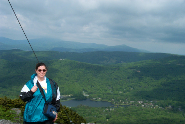 2001 - Blue Ridge Parkway with Leigh