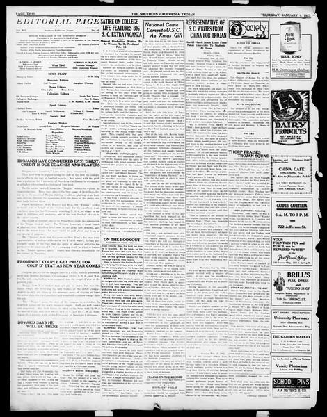 The Southern California Trojan, Vol. 14, No. 42, January 04, 1923
