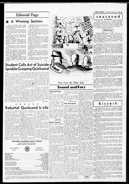 Daily Trojan, Vol. 52, No. 43, November 16, 1960