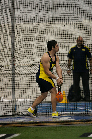 Weight Throw - 2013 UM vs MSU Indoor Meet