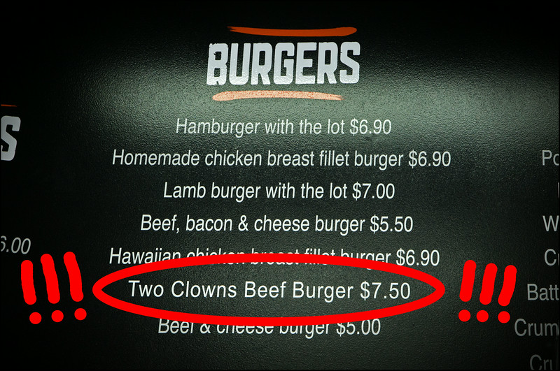 Two Clowns Beef Burger!!