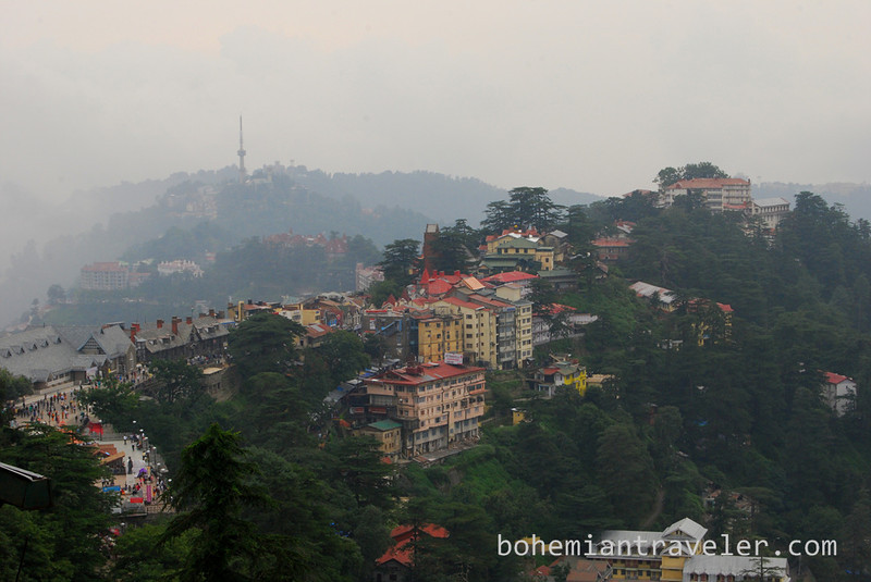 View over the Hill Station of Shimla in India.
