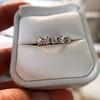 1.10ctw Old European Cut Diamond 5 Stone Band 8