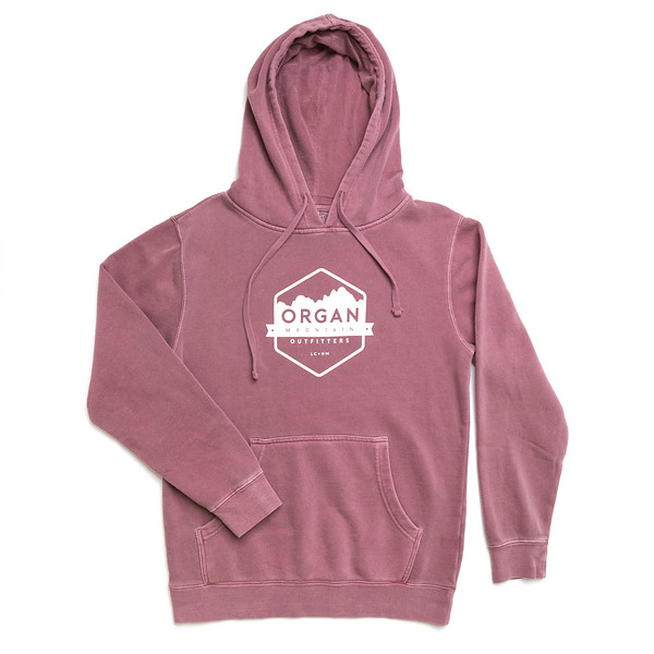 Organ Mountain Outfitters - Outdoor Apparel - Pullover Sweater - Classic Heavyweight Dyed Hoodie - Pigment Maroon.jpg