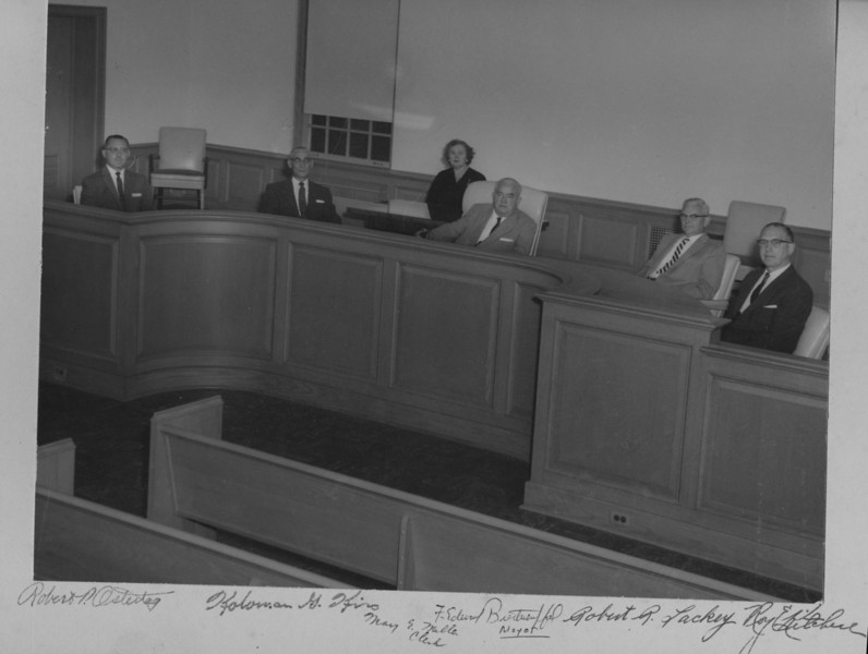 Township Committee in the brand new Municipal Building 1957.