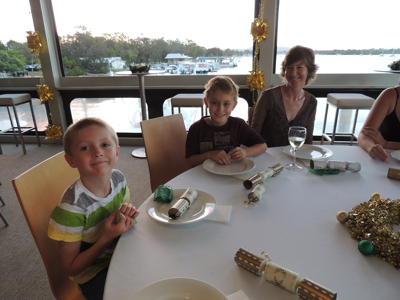 3rd Annual Combat Karate Christmas Party & Awards Noosa 2012 - Zachary, Christian & mum