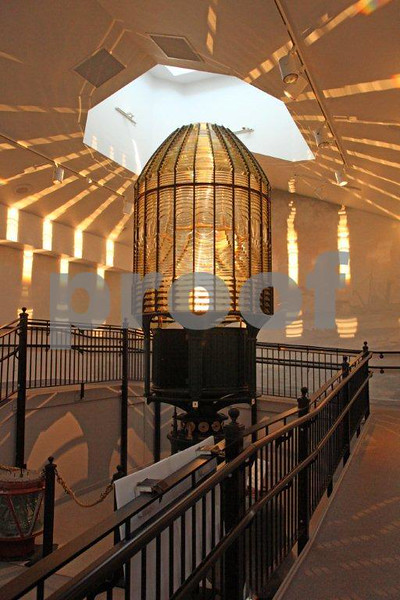 The Westport/South Beach Historical Society's  Maritime Museum houses the Fresnel lens from the Destruction Island Lighthouse on the Washington Coast. This is a first-order Fresnel lens made in France in the mid-1800's with  1,176 prims and 24 bull's-eyes that can project a beam of light 26 miles.