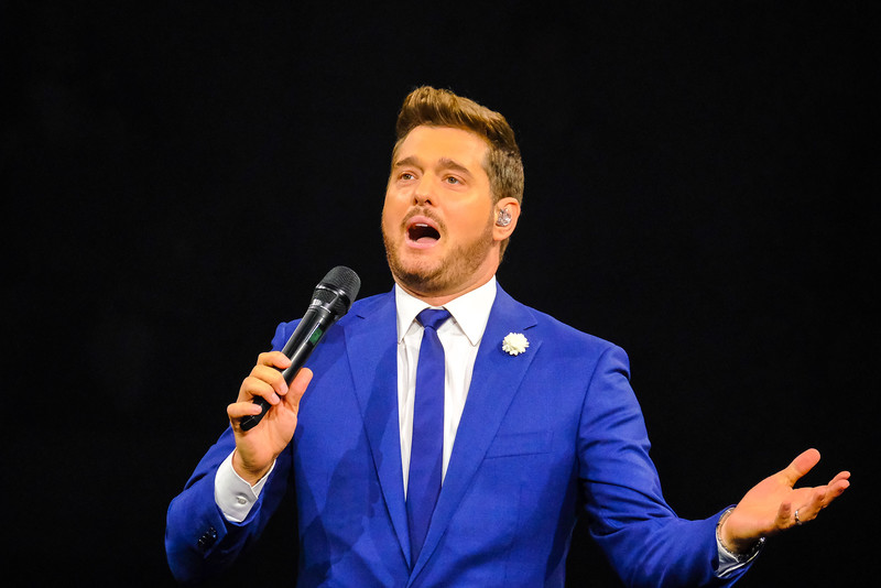 Michael Bublé show at the Allstate Arena on July 20