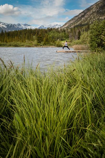 Yoga at Vermilion Lakes