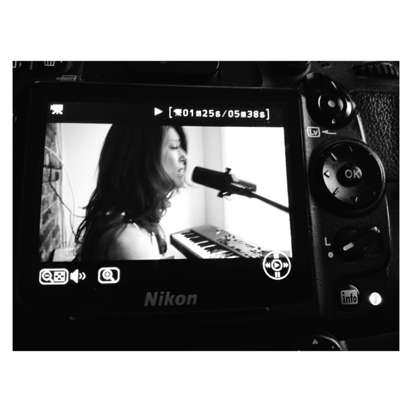 Cobble Hill, Brooklyn, New York - February 10, 2016: Album cover shoot with musician Nikki Fernandez on February 10, 2016 in Brooklyn, New York. Photo by Lukas Maverick Greyson © 2016 LMG