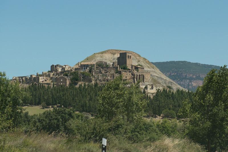 Ruins near Embalse De Yesa, Spain