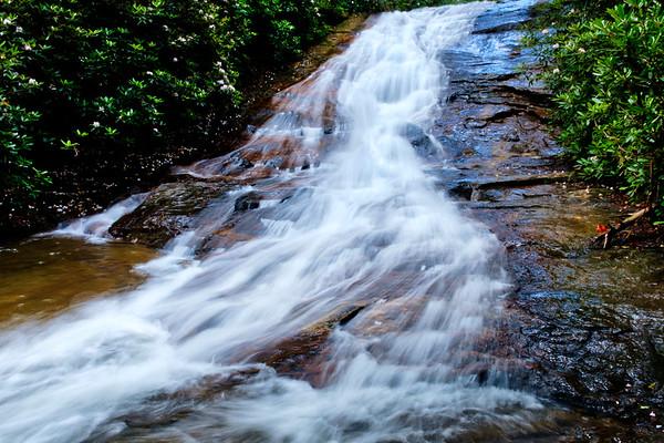Helton Creek - Upper & Lower Falls