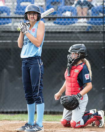 07/23/18 Wesley Bunnell   Staff York, ME defeated Peabody, MA 1-0 in Little League Eastern Region Softball on Monday afternoon. Peabody's Logan Lomasney (10).