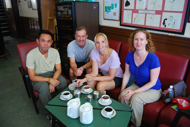 our group drinking coffee at Coliseum Cafe.jpg