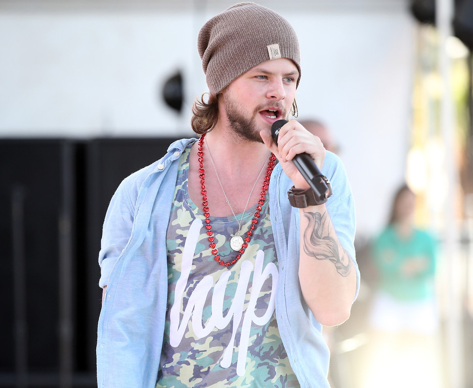 . Jay McGuiness of The Wanted performs onstage during the iHeart Radio Music Festival Village on September 21, 2013 in Las Vegas, Nevada.  (Photo by Christopher Polk/Getty Images for Clear Channel)